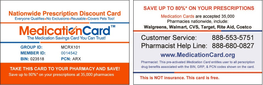 this card is active - Walgreens Prescription Discount Card